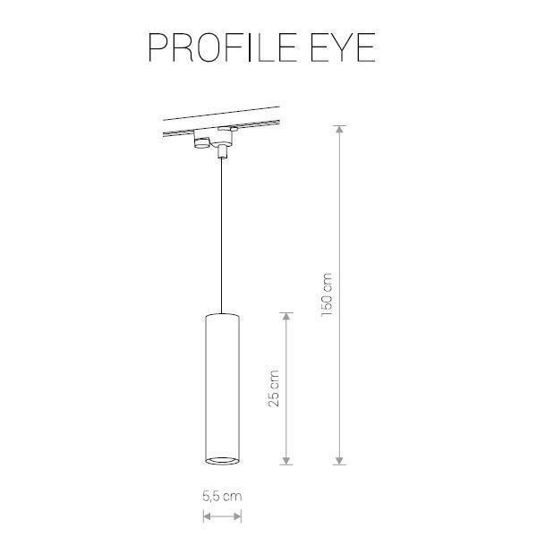 Трековый светильник Profile Eye черного цвета