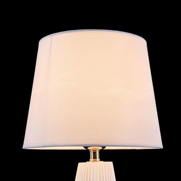 Настольная лампа Calvin белого цвета