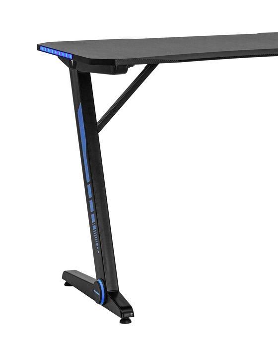 Стол компьютерный игровой TopChairs Arena LED черного цвета