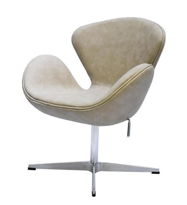 Кресло Swan Chair бежевого цвета