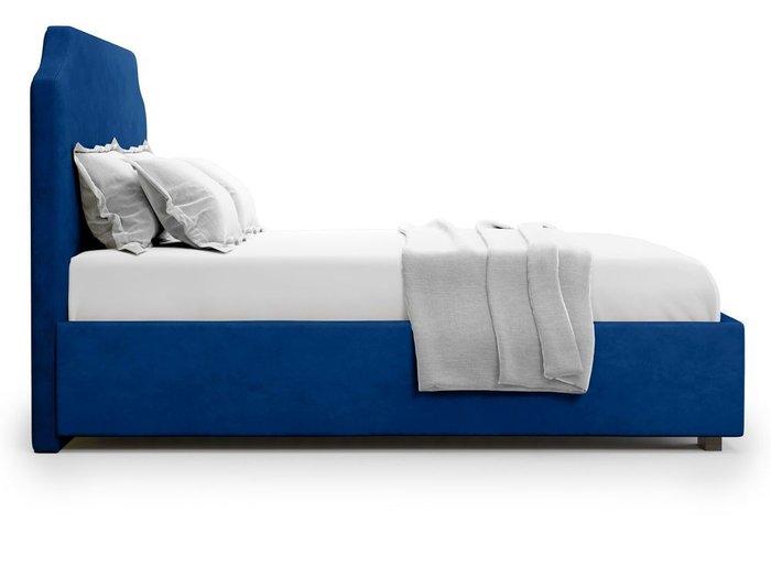 Кровать Izeo с подъемным механизмом 140х200 синего цвета
