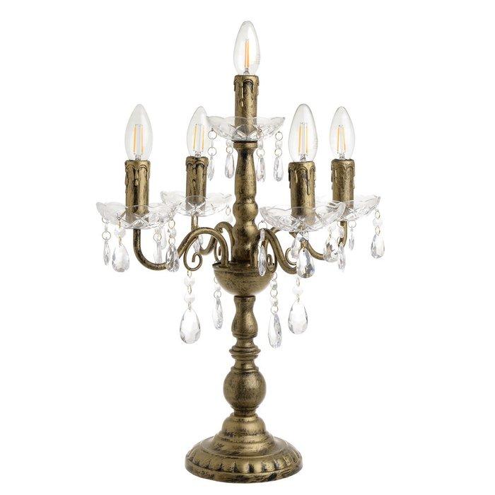 Настольная лампа золотого цвета