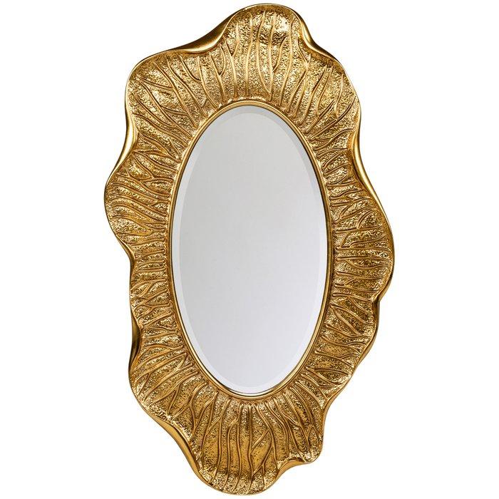 Настенное зеркало Гауди золотого цвета