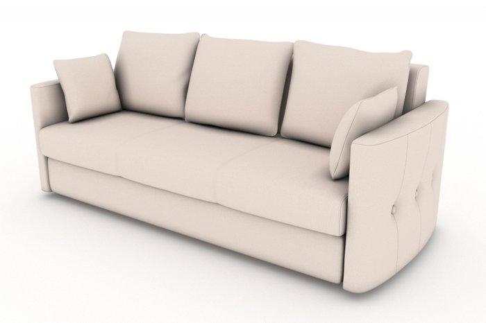 Прямой диван-кровать Луна бежевого цвета