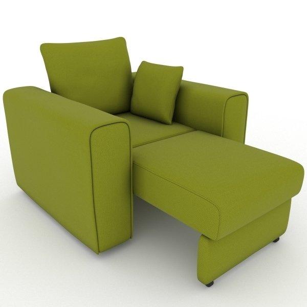 Кресло-кровать Giverny зеленого цвета