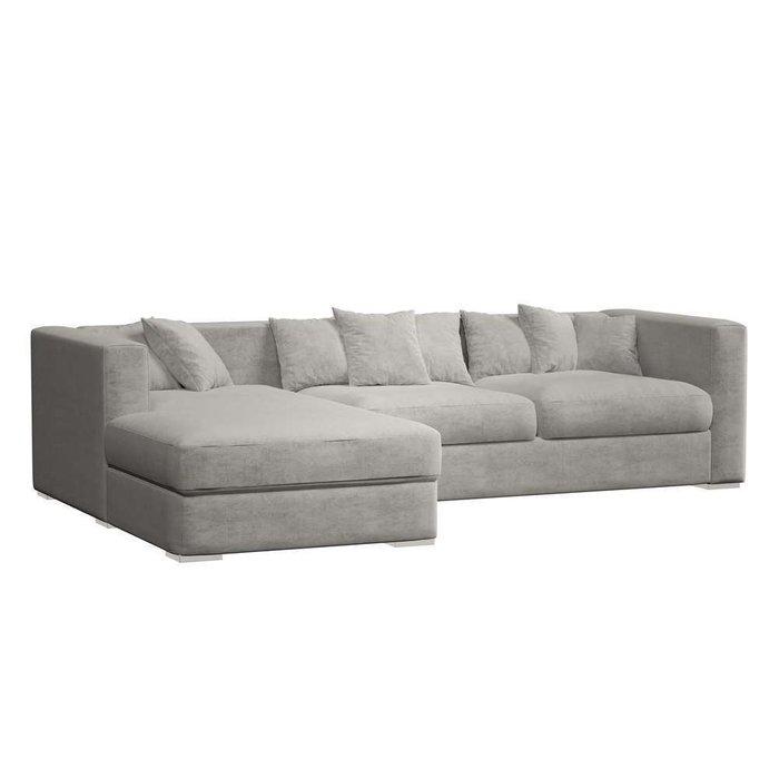 Угловой модульный диван-кровать Lounge серого цвета