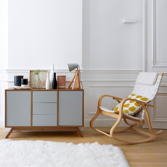 Кресло-качалка Jimi бежевого цвета