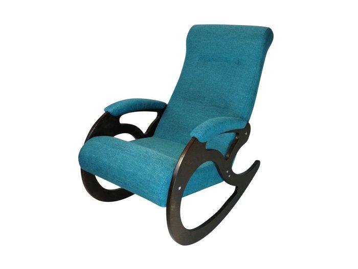 Кресло-качалка Венера светло-синего цвета