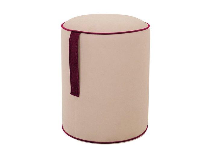 Пуф Drum Handle с ручкой бордового цвета