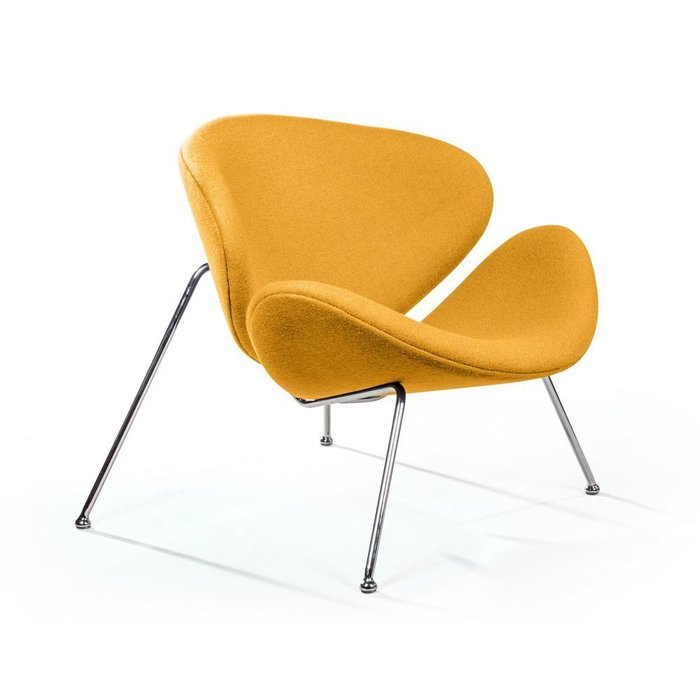 Лаунж кресло Slice желтого цвета