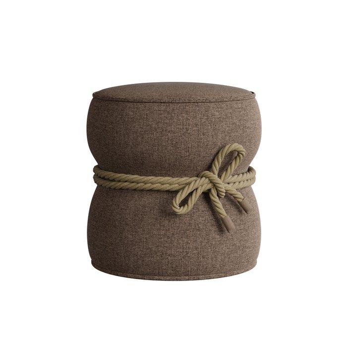 Мягкий пуф Cravt коричневого цвета