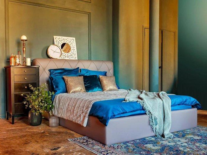 Кровать Ember зеленого цвета  160х200