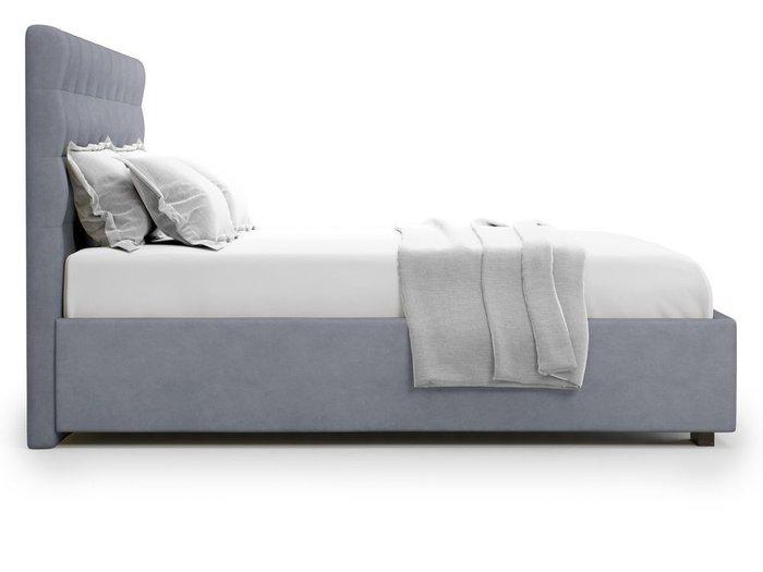 Кровать с подъемным механизмом Brayers 160х200 серого цвета