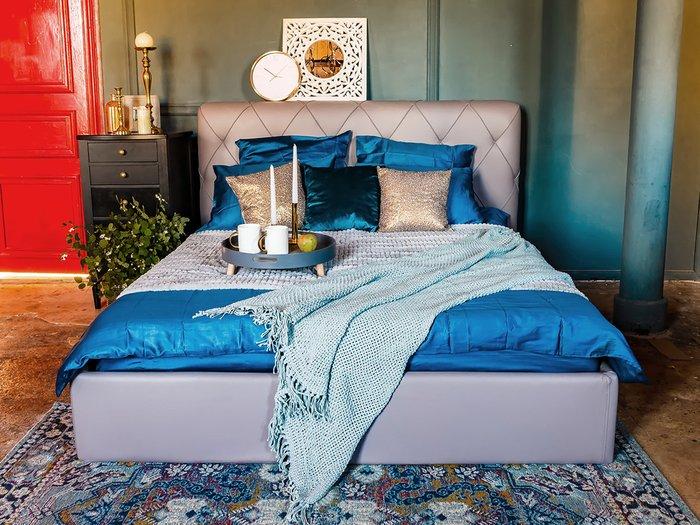 Кровать Ember темно-синего цвета 160х200