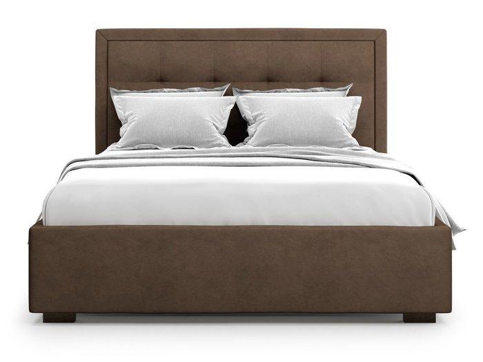 Кровать Komo 160х200 коричневого цвета с подъемным механизмом
