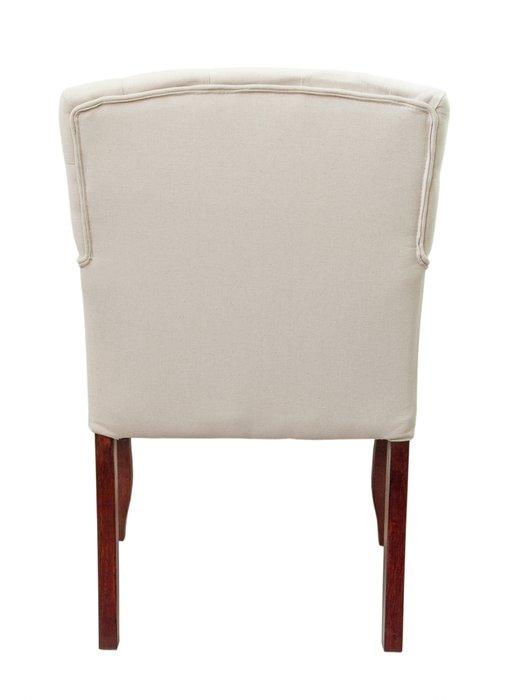 Классическое кресло Deron beige classic с обивкой из льна