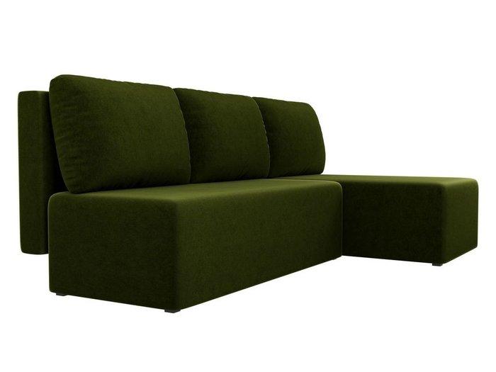 Угловой диван-кровать Поло зеленого цвета