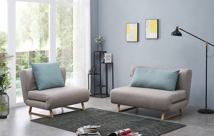 Кресло-кровать Rosy бежевого цвета