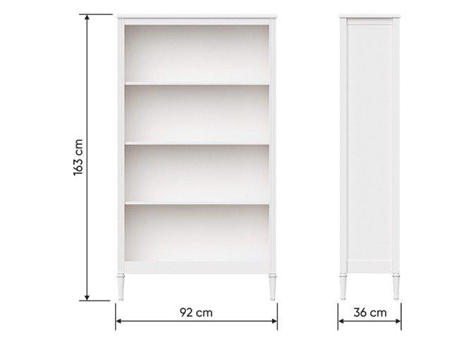 Книжный шкаф Elit L белого цвета