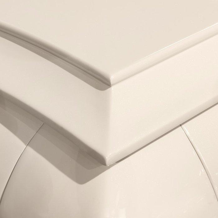 Стол обеденный раздвижной Roma жемчужного цвета
