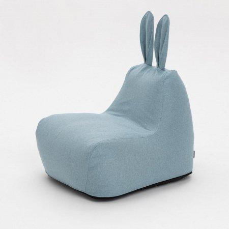 Пуф Заяц Small в рогожке голубого цвета