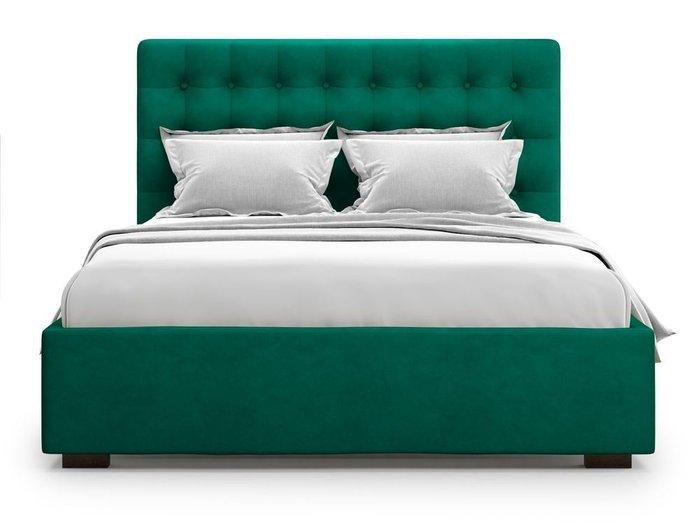 Кровать с подъемным механизмом Brayers 160х200 зеленого цвета