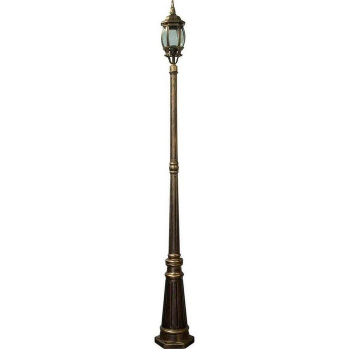 Садово-парковый светильник цвета черное золото