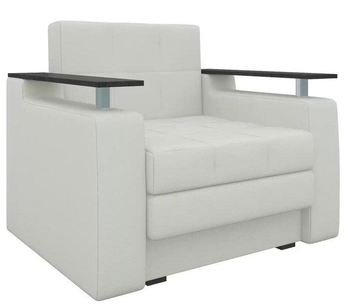 Кресло-кровать Мираж белого цвета (экокожа)