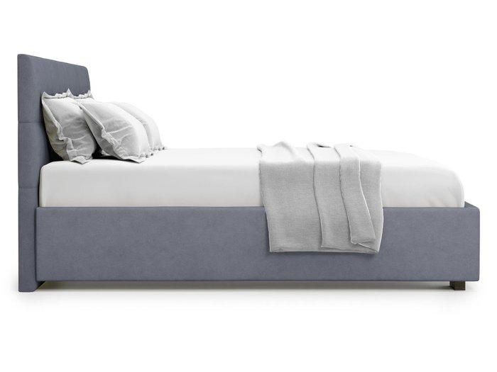 Кровать Garda 160х200 серого цвета с подъемным механизмом
