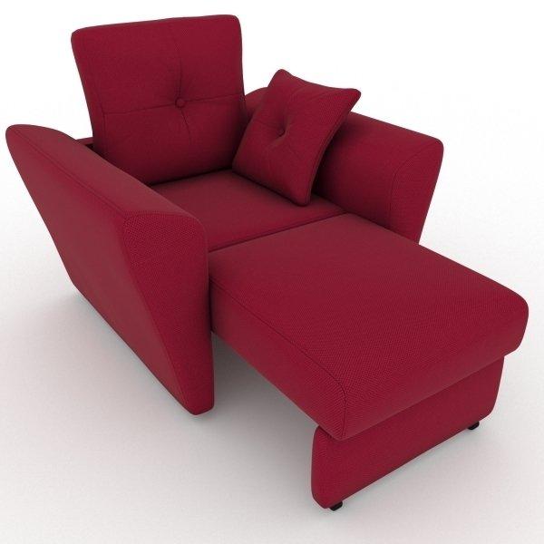 Кресло-кровать Neapol красного цвета