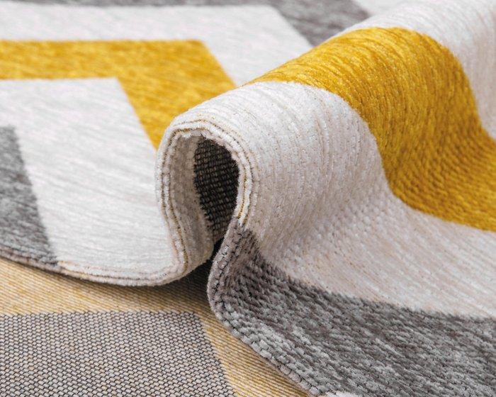 Ковер Line Rikko серо-желтого цвета 80х150