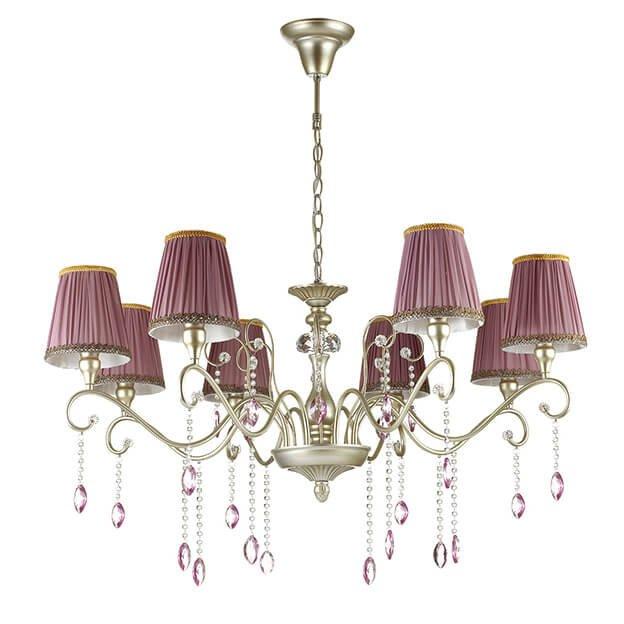 Подвесная люстра Odeon Light Gaellori с розовыми абажурами
