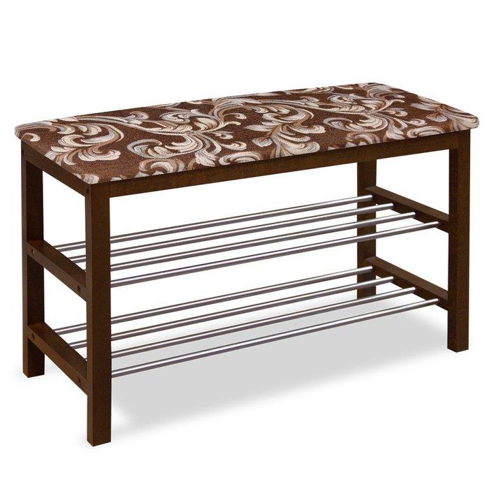 Банкетка деревянная Mirzam коричневого цвета
