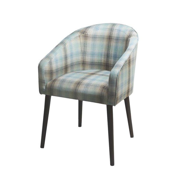 Стул-кресло мягкий Angelica бежево-голубого цвета