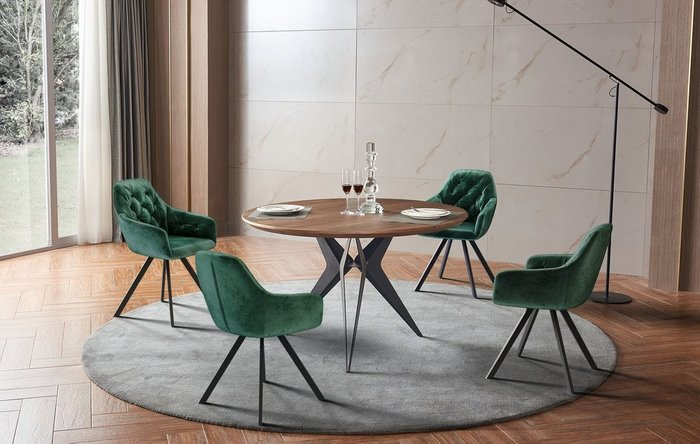 Обеденный стол Eliza Standart L с коричневой столешницей