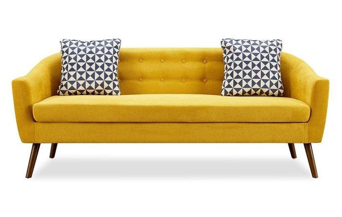 Прямой диван Florence L желтого цвета