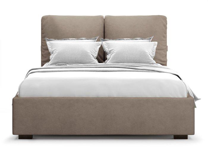 Кровать Trazimeno 160х200 светло-коричневого цвета с подъемным механизмом