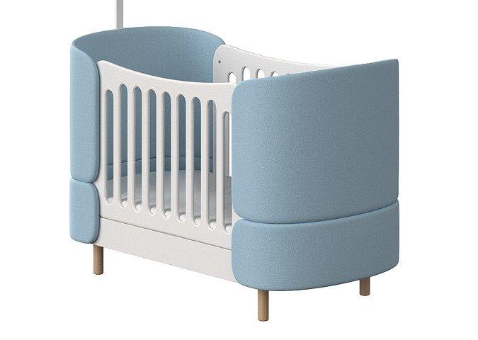 Кроватка-трансформер Kidi Soft 74х143 бело-голубого цвета