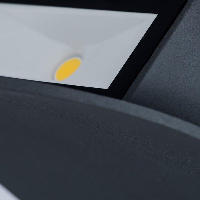 Уличный настенный светодиодный светильник темно-серого цвета