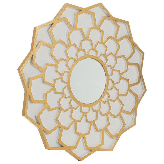Зеркало настенное Англе золотого цвета