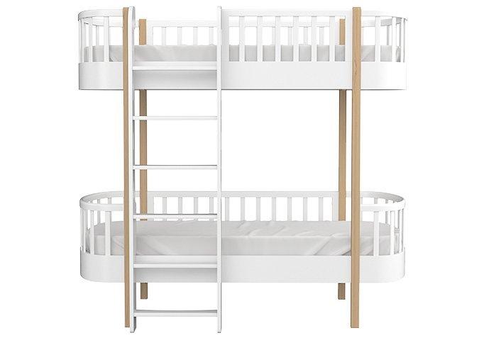 Кровать двухъярусная Classic белого цвета