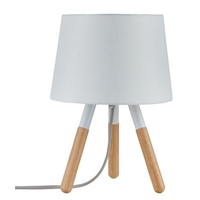 Настольная лампа Paulmann Berit с абажуром из ткани