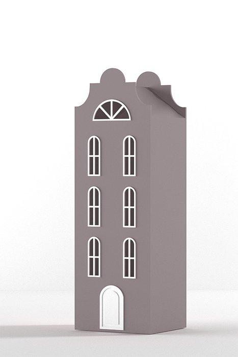 Шкаф-домик Стокгольм Medium темно розового цвета