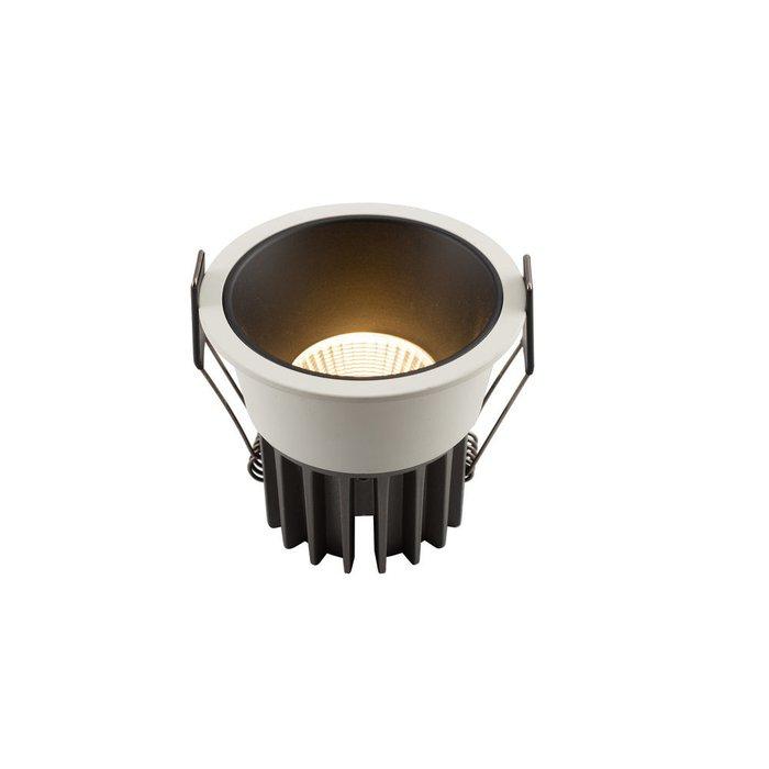 Точечный встраиваемый светильник черно-белый