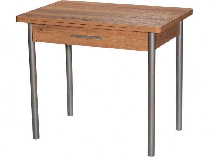 Стол раздвижной коричневого цвета
