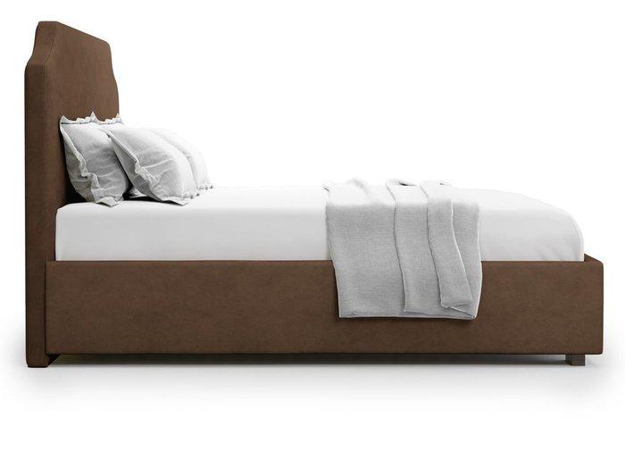 Кровать Izeo с подъемным механизмом 180х200 коричневого цвета