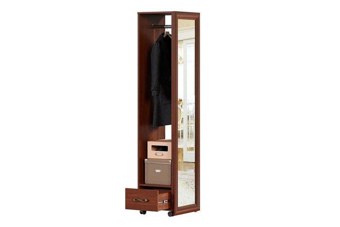 Зеркало напольное с вешалкой Александрия коричневого цвета
