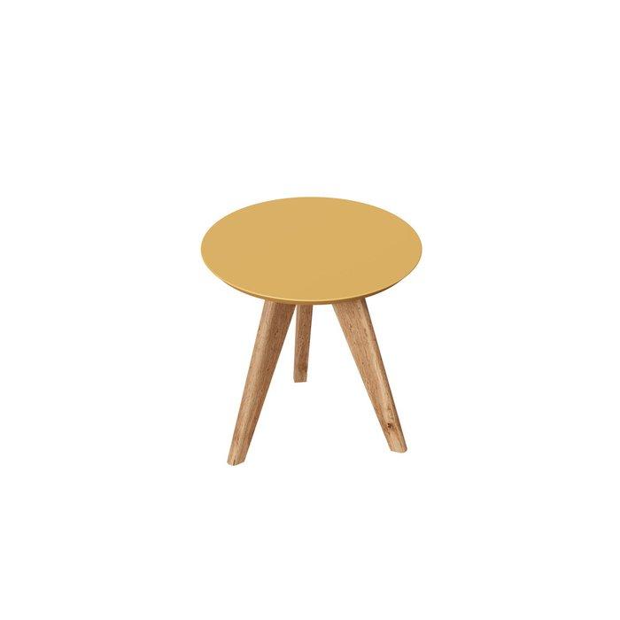 Стол журнальный Тип M с желтой столешницей