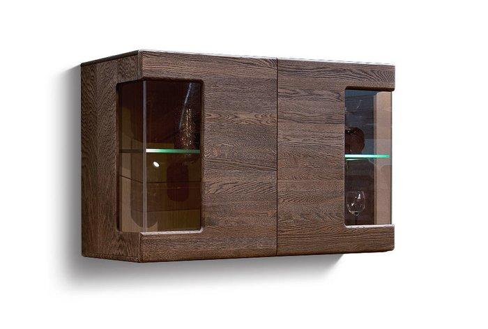 Шкаф навесной Хедмарк темно-коричневого цвета