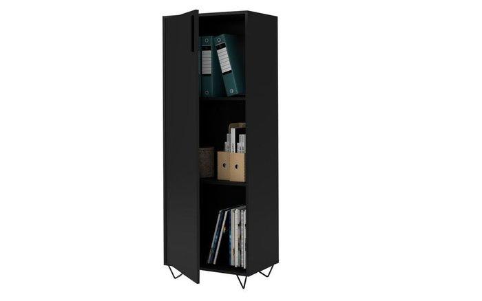Шкаф распашной Easy черного цвета